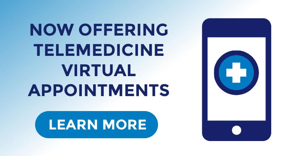 now offering telemedicine appointments